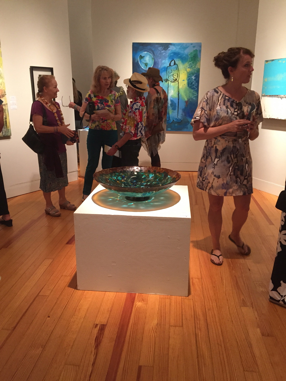 "I was the lucky recipient of a ""sale"" and my Honu Ceramonial Bowl, was SOLD at ART MAUI 2015 , the annual Statewide Juried Exhibition on Maui, Hi.  This was the opening preview."