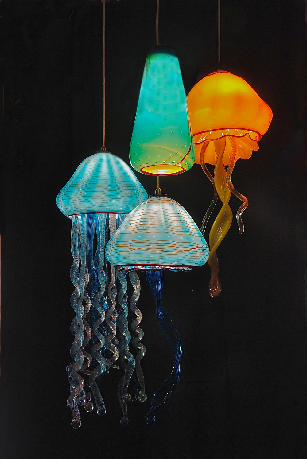 Striniartglasscustomlightingstriniartglasscustomlighting31st last day of may jelly fish pendant - Lamp may day ...