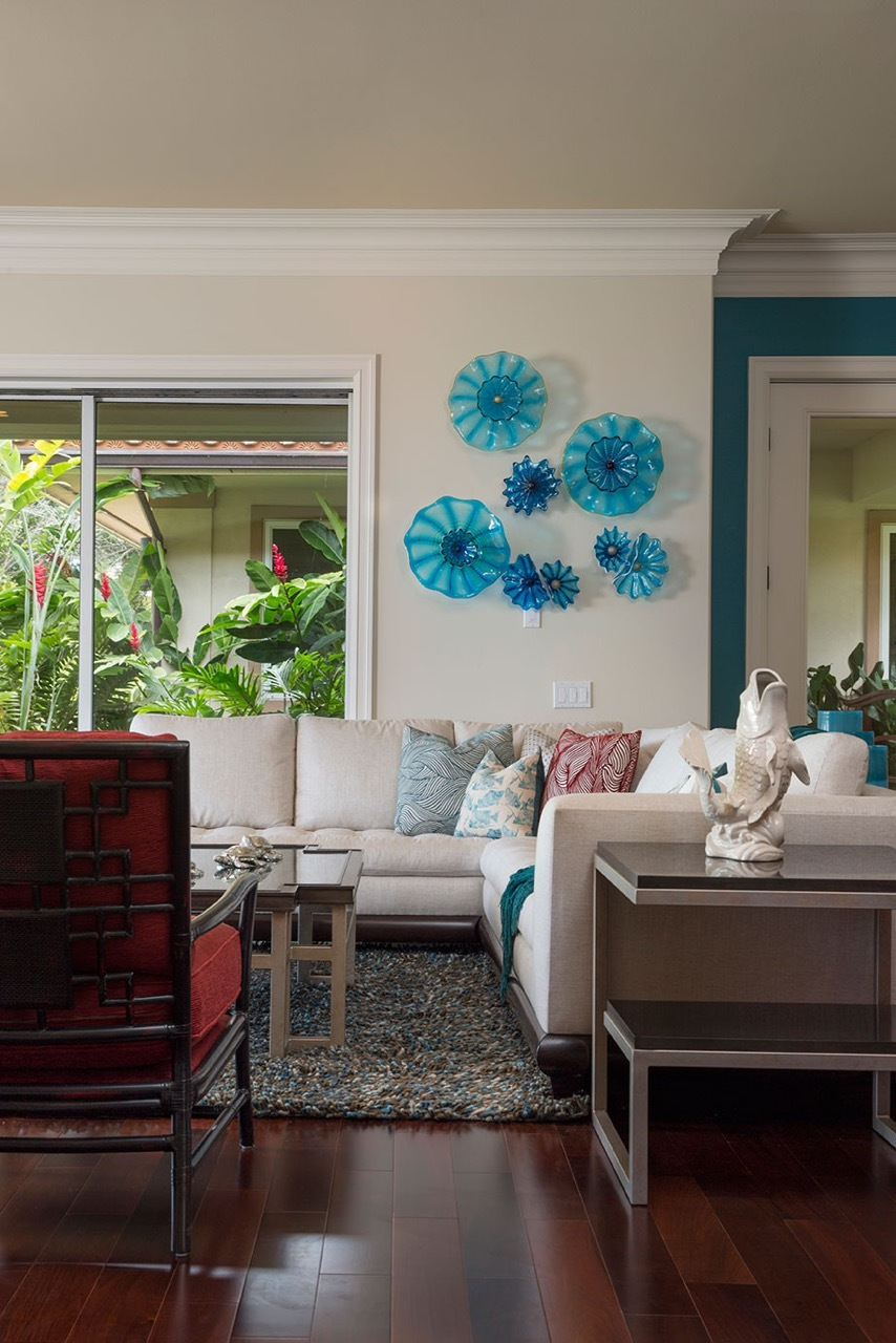 Double Rondel Wall Splash,  2015, private residence in Maui.