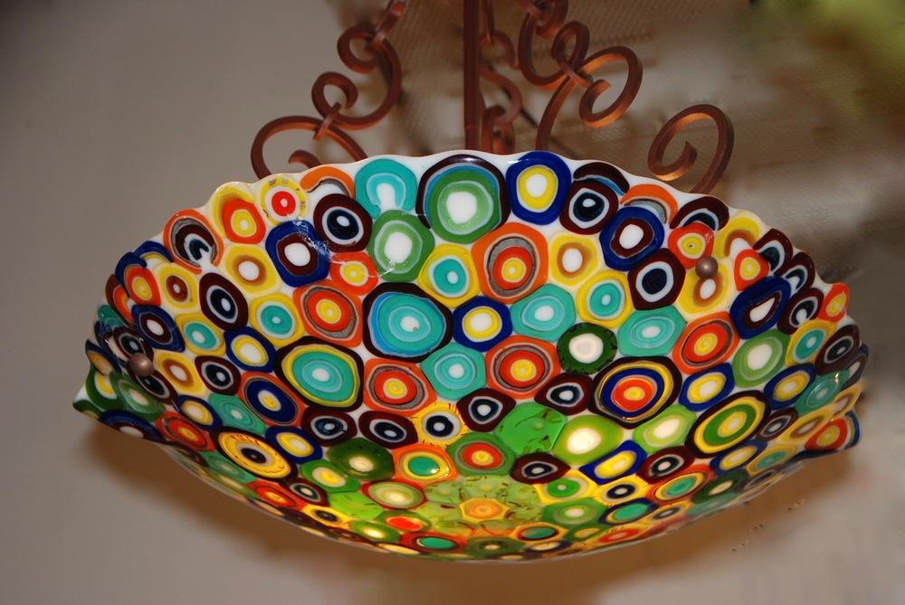 "Super Custom Opihi dome for the ceiling. 24"" x 5"" for Michelle  strini art glassrick strini 2015"