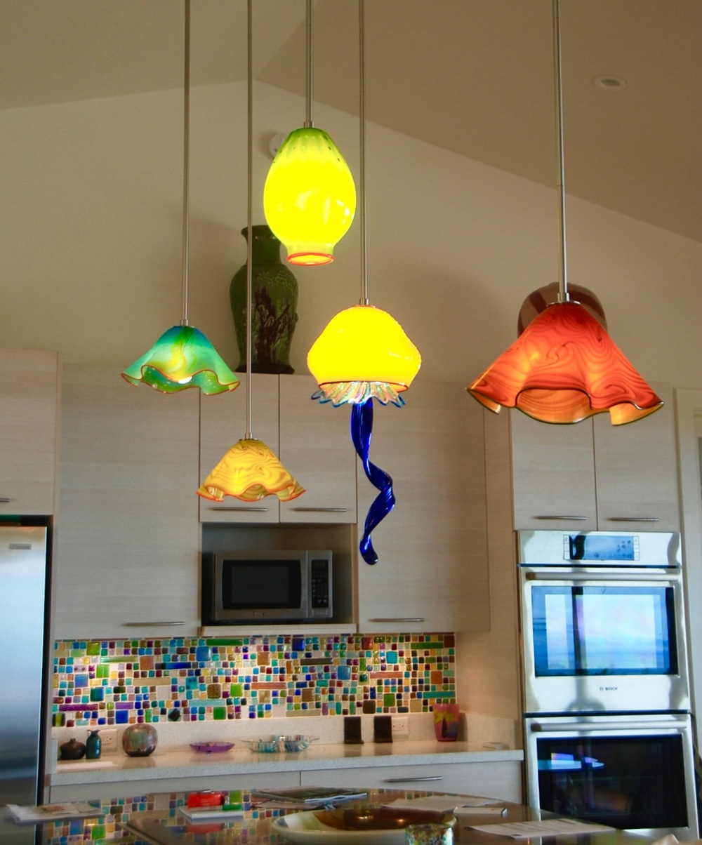 Kitchen Pendants over IslandStrini Art Glass2015Launiupoko,  Maui.  Hawaii