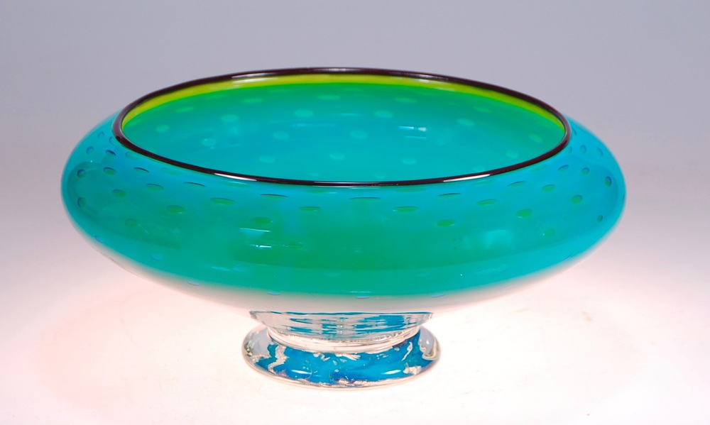 "Low Profile, ""reverse"" bowl.  12"" x 5 ""  signed and dated,  Rick Strini 2015"