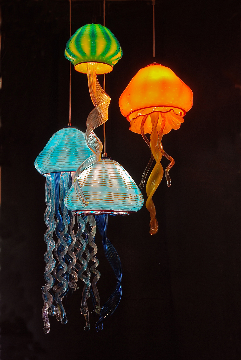 Jellyfish Lamps new for 2016strini art glass.   2016