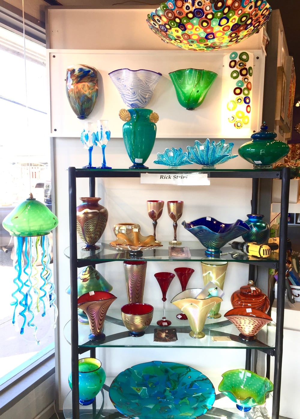 Fresh new display for our upcoming season here at the Maui Crafts Guild, Paia. Maui. 2016artist Rick Strini, Strini Art Glass