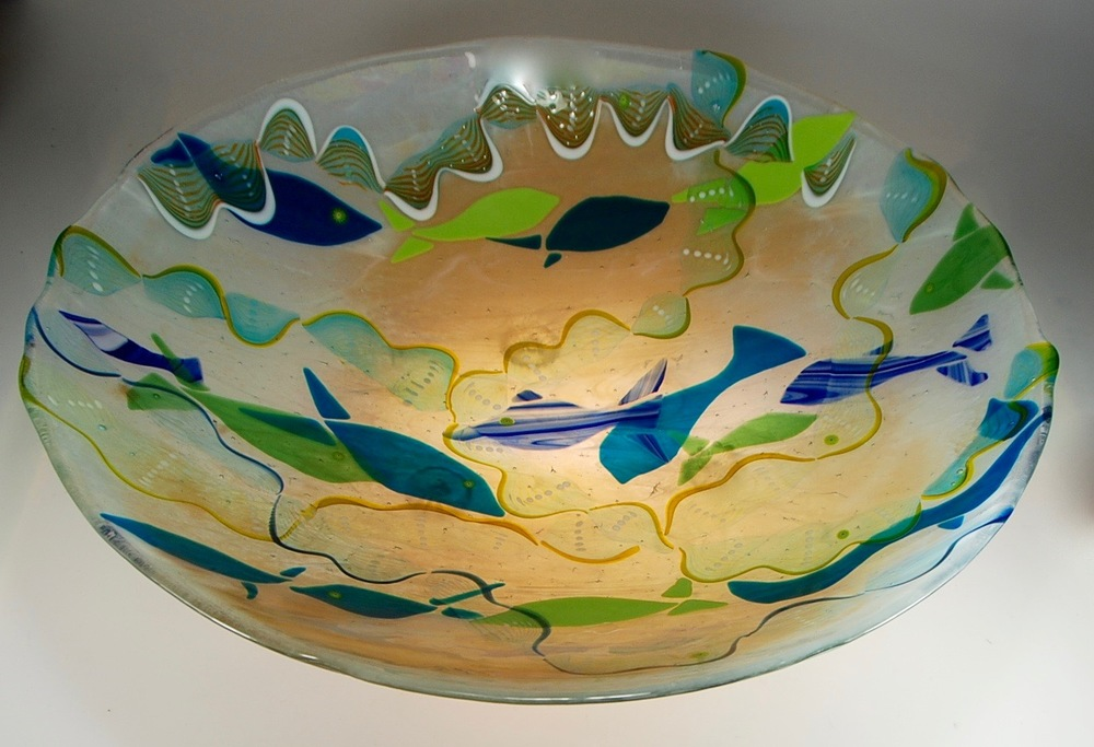 """ Ono Bowl Strini fused :slumped: blown glass07.jpg"