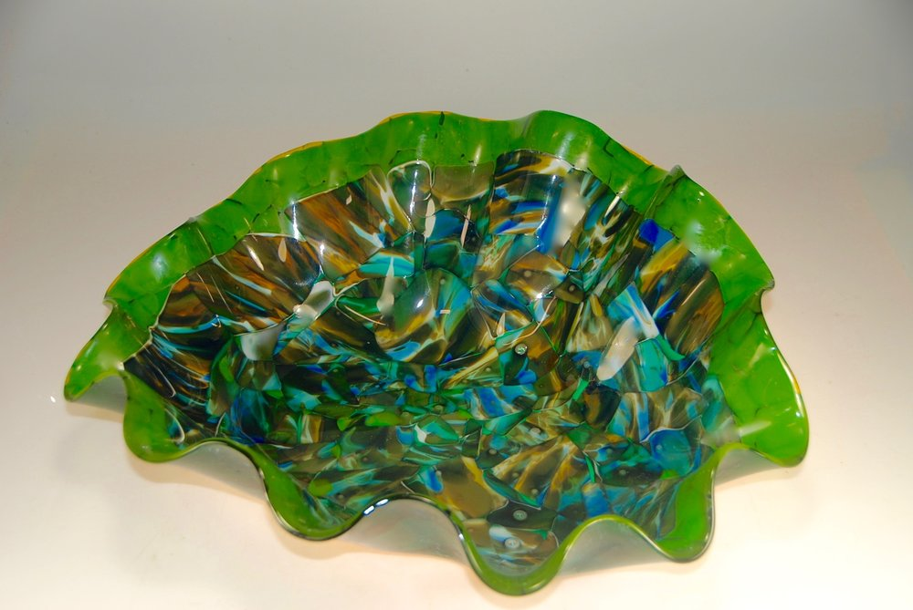 strini Ruffle fused slumped emerald art 3.jpg