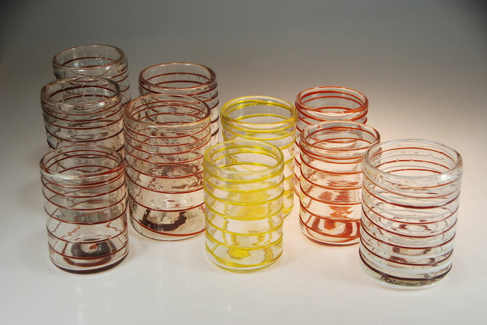 spring cupsfrom Strini art glass