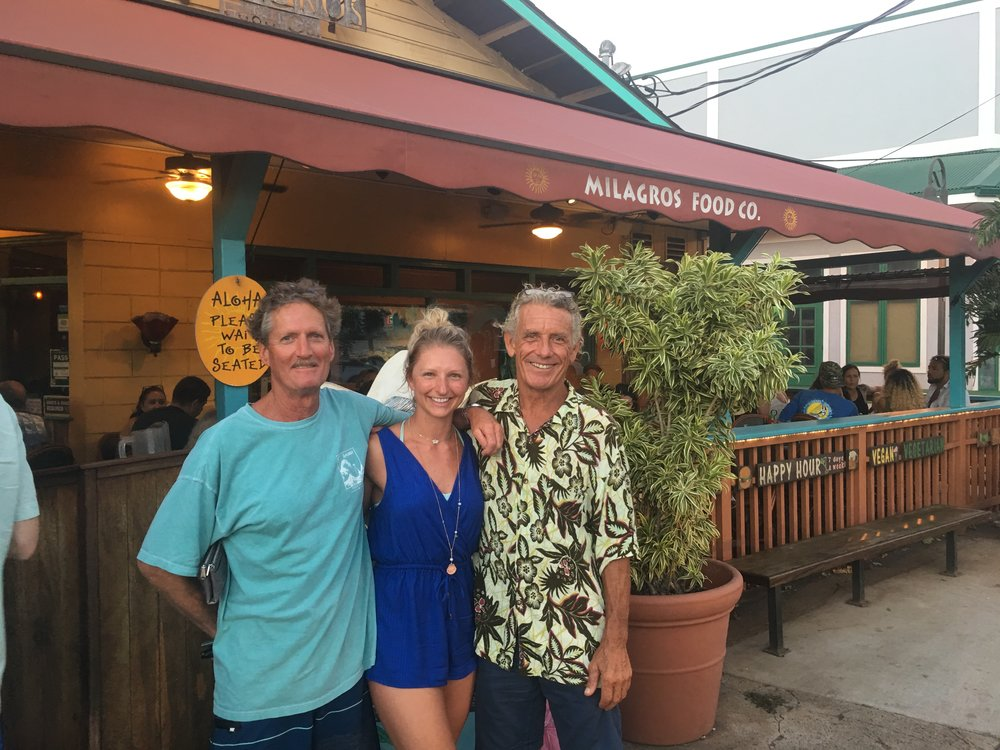 scott & Taylor Johnson, shaver lake and Santa Cruz visiting Maui.