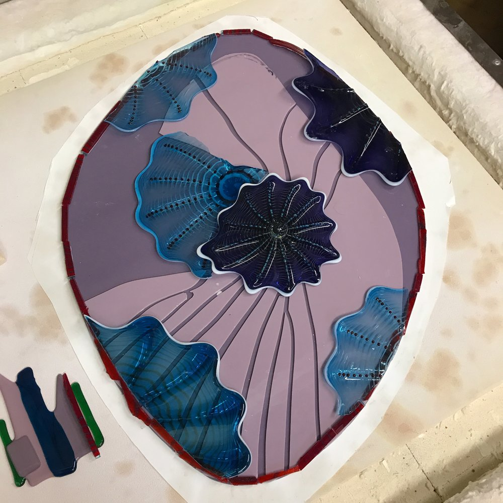 special Mauve colors for client.  cooling in the kiln right now.  stay tuned.  thanks rick