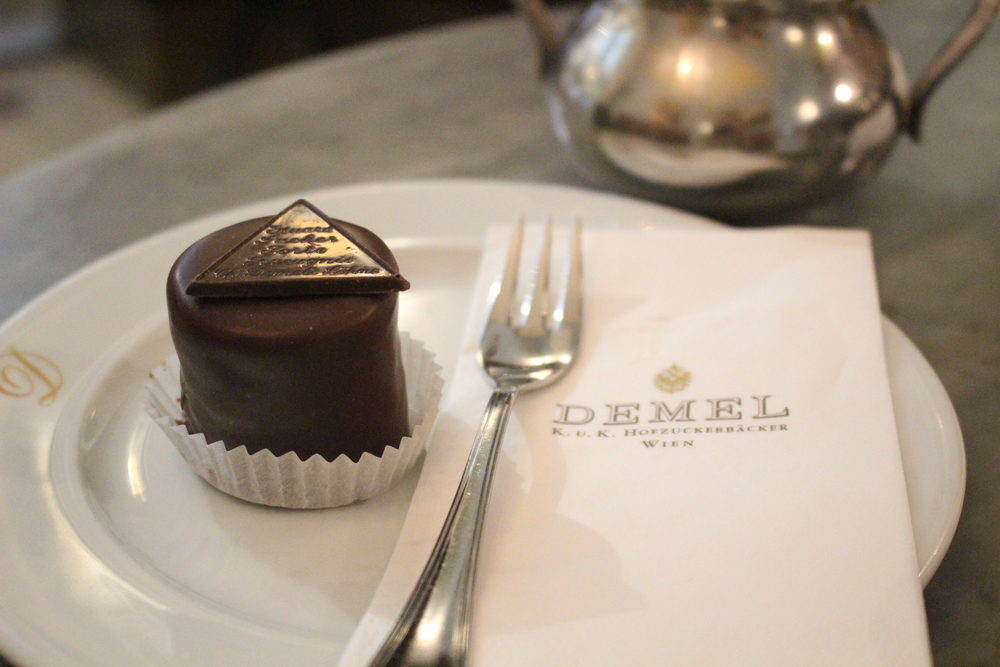 Mini Sachertorte at Demel (photo: Anne Banas)
