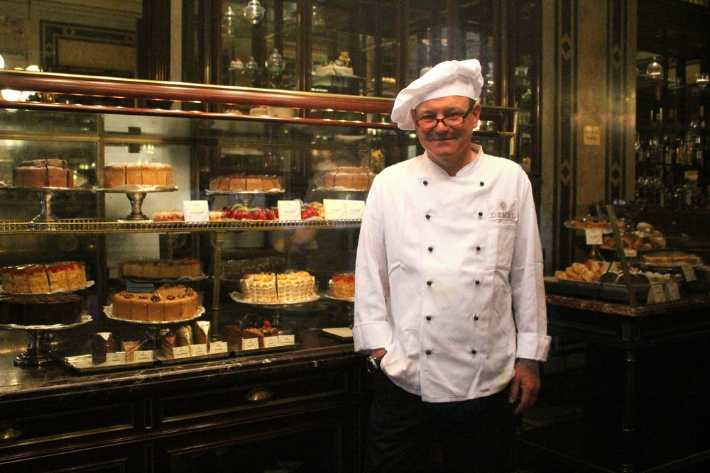 Head chef Dietmar Muthenthaler at Demel (photo: Anne Banas)