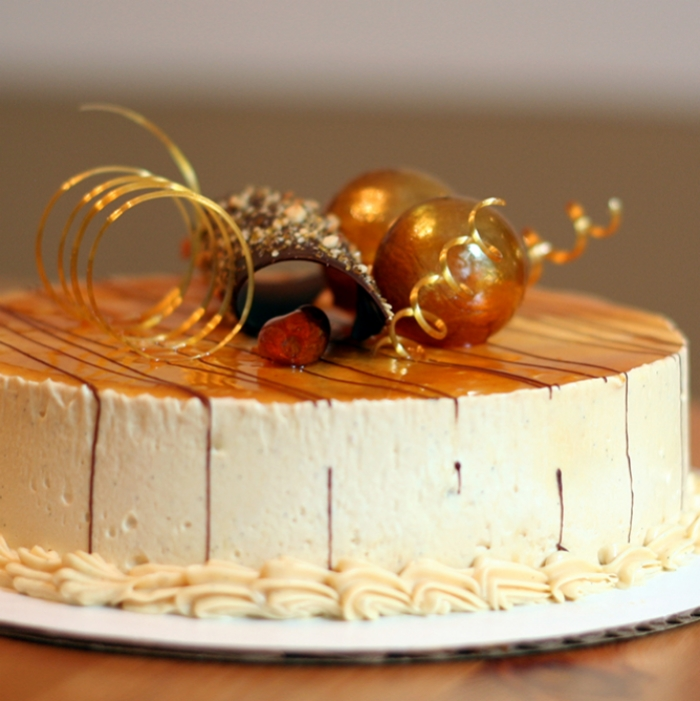 Caramel-Passion Fruit Cake