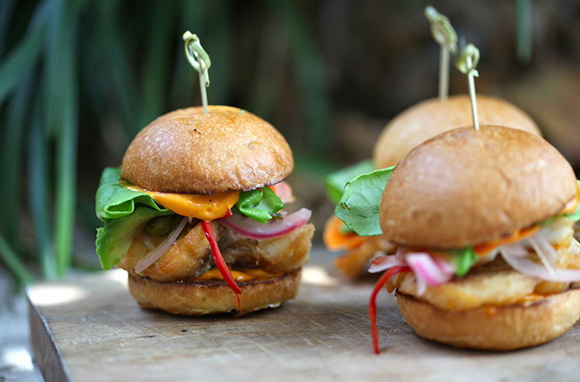 Lionfish sliders (Photo: The Genuine Hospitality Group)
