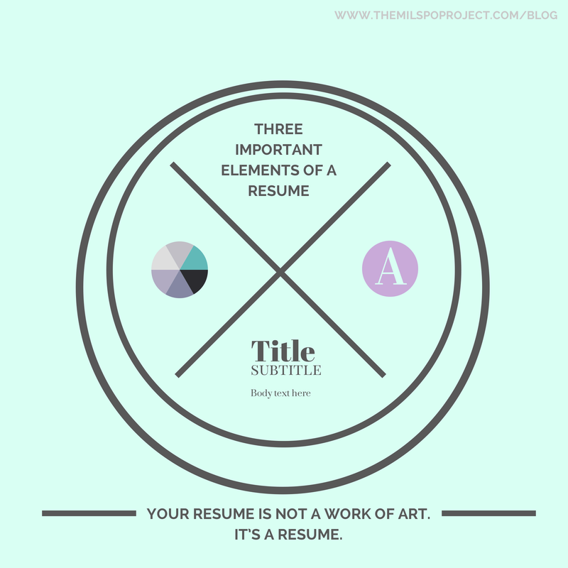 Three things elements every resume should have