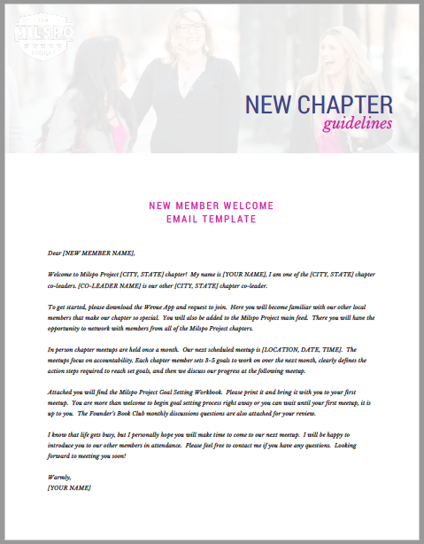 New Member Welcome Email Template