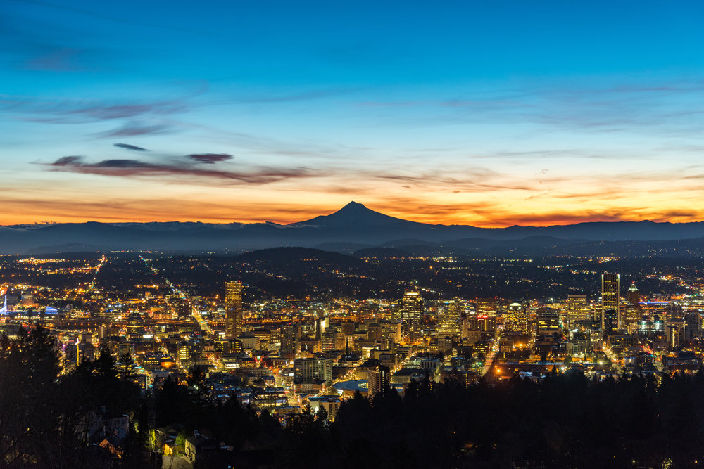 Sunrise from Pittock Mansion