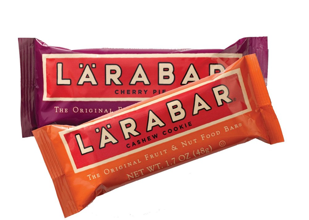 Larabars - Clean, MINIMAL ingredients! For original bars - Calories: 190-200 // Protein: 4-5gm // Sugar: 17-18gm (0-3 gm added sugar)P.S. if you want a smaller bite, they make kid's size Larabars!