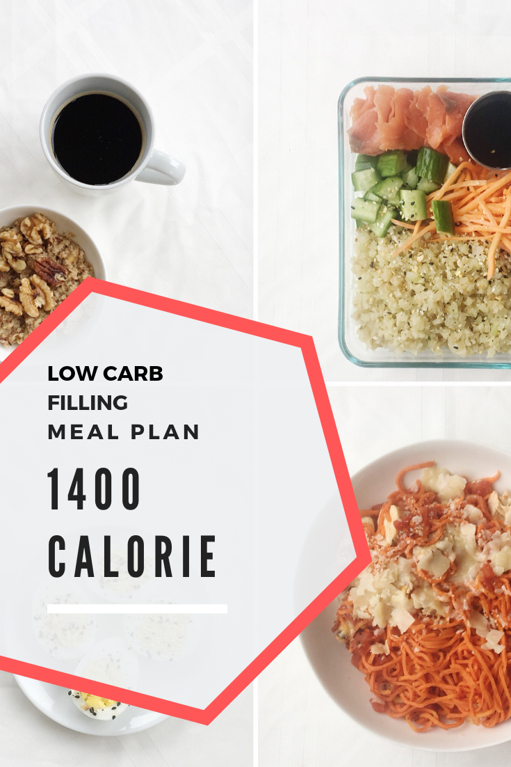 low carb meal plan 1400 calories