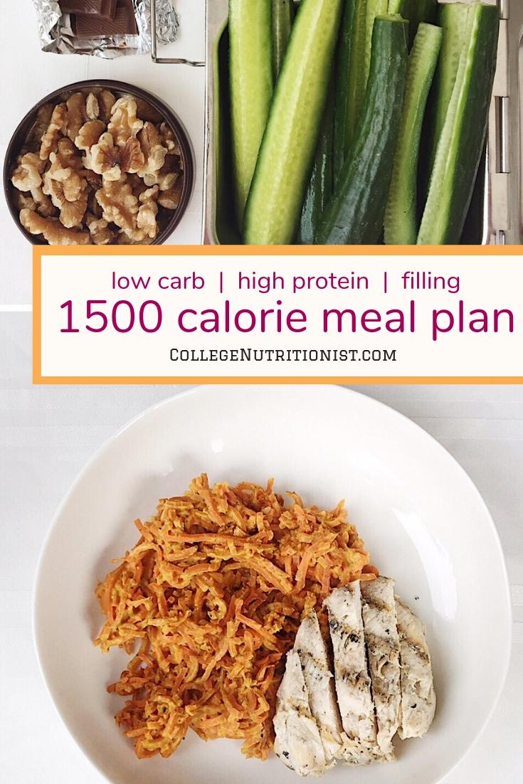 1500 calorie low carb diet, college diet, low carb meal prep ideas
