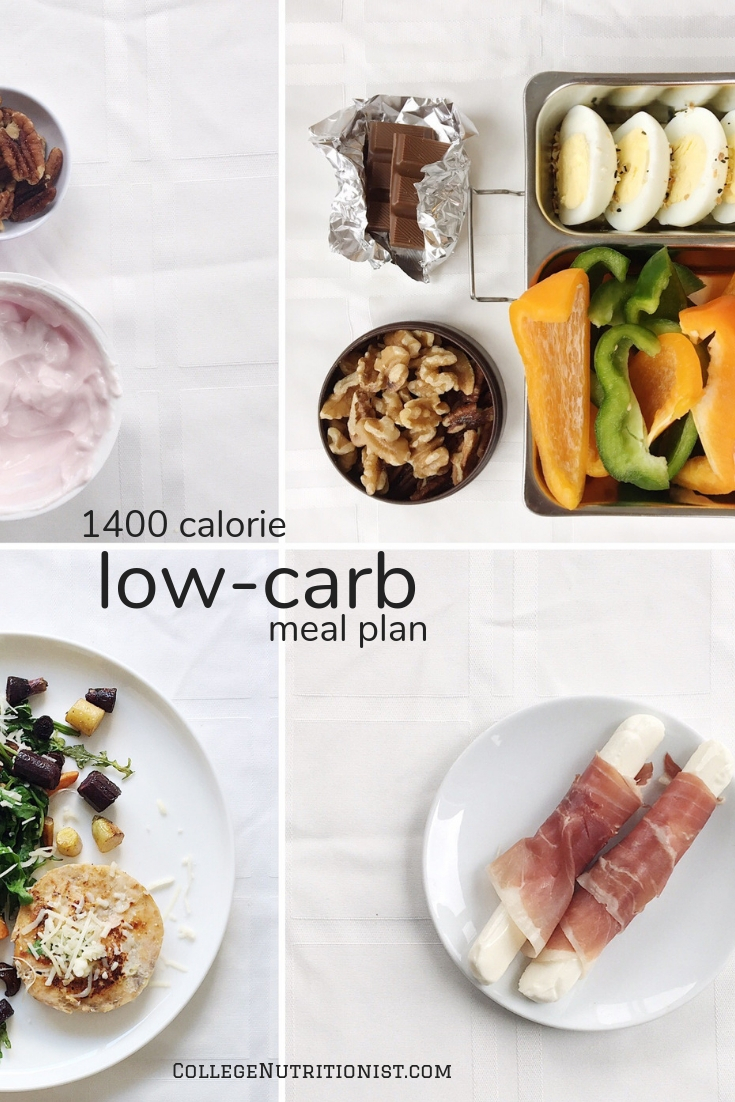 1400 Calorie Low Carb Meal Plan With Nuts Peppers The College