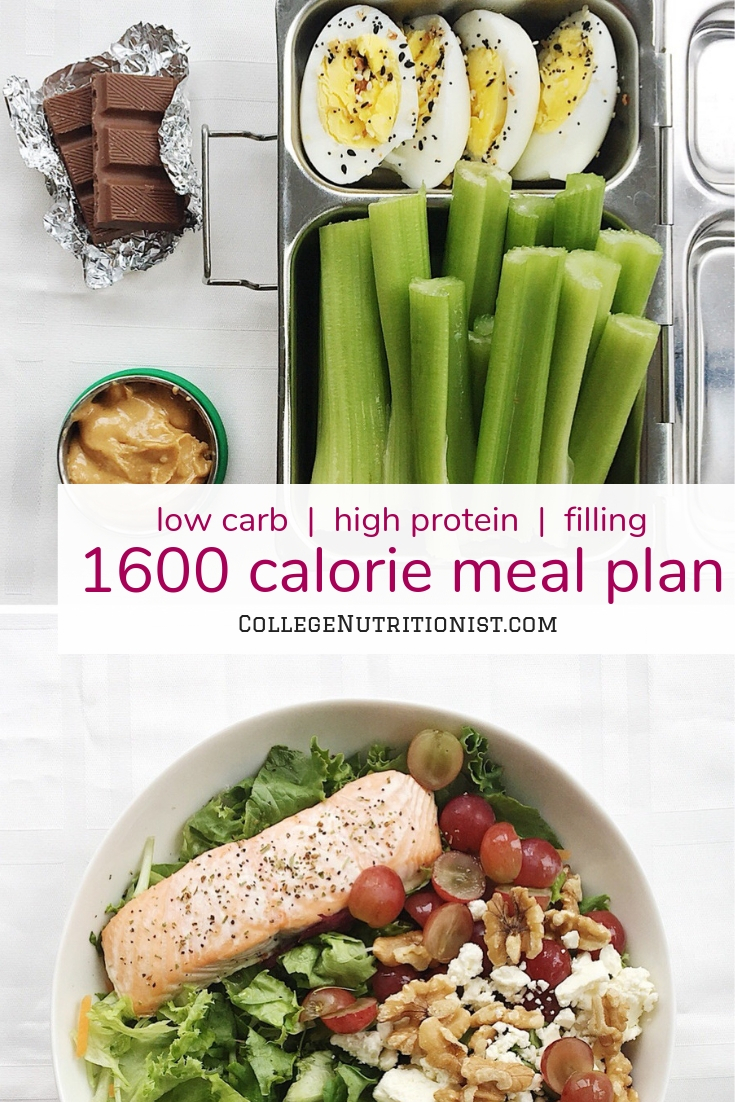 1600 calorie meal plan, low carb diet meal plan