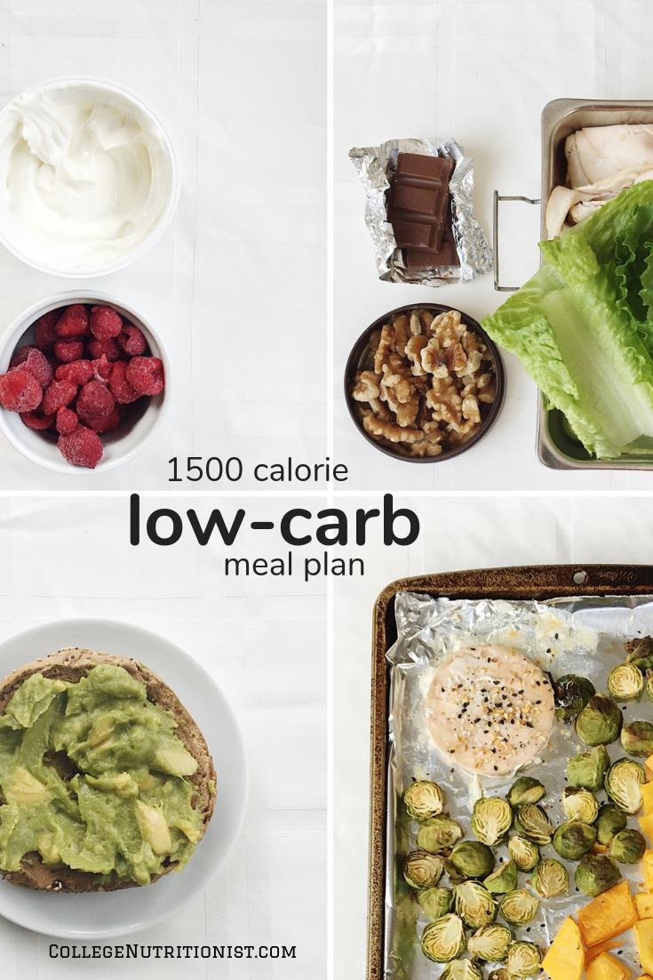 low carb meal plan 1500 calories