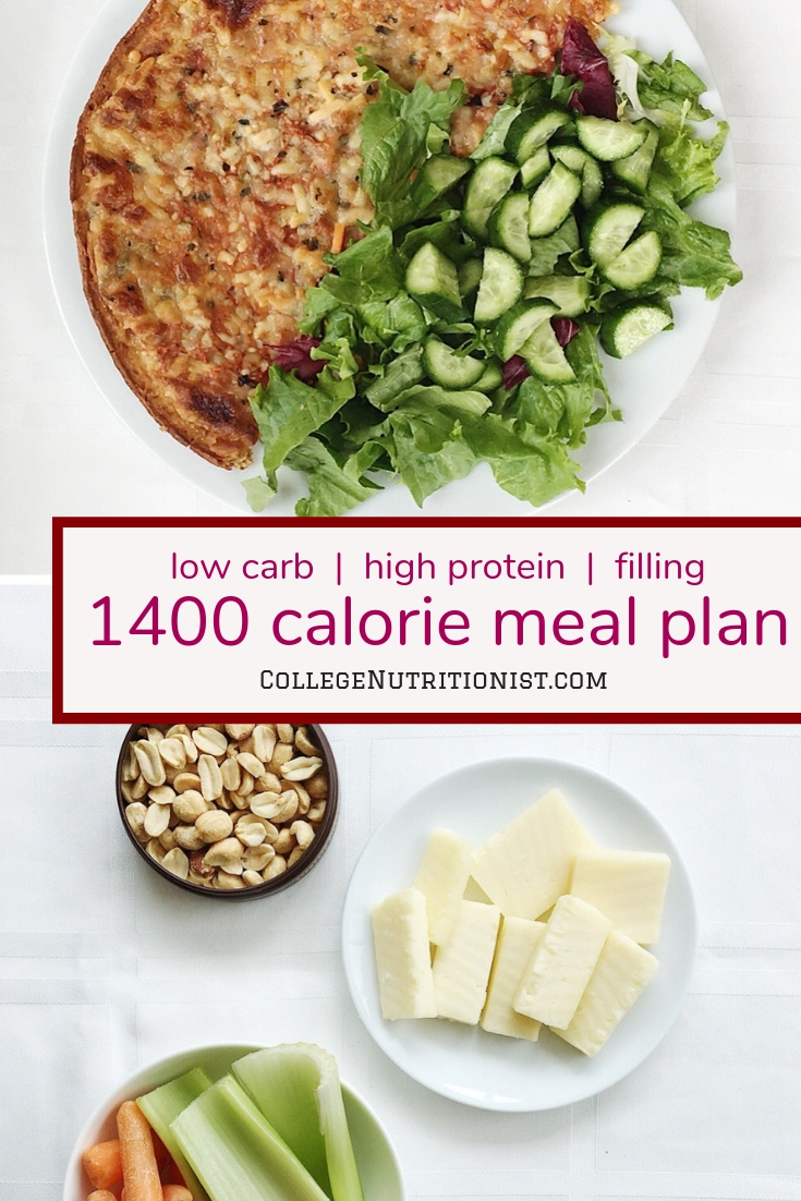 photo about 1400 Calorie Meal Plan Printable titled 1400 Calorie Higher Protein, Minimal Carb Dinner Software with Pizza