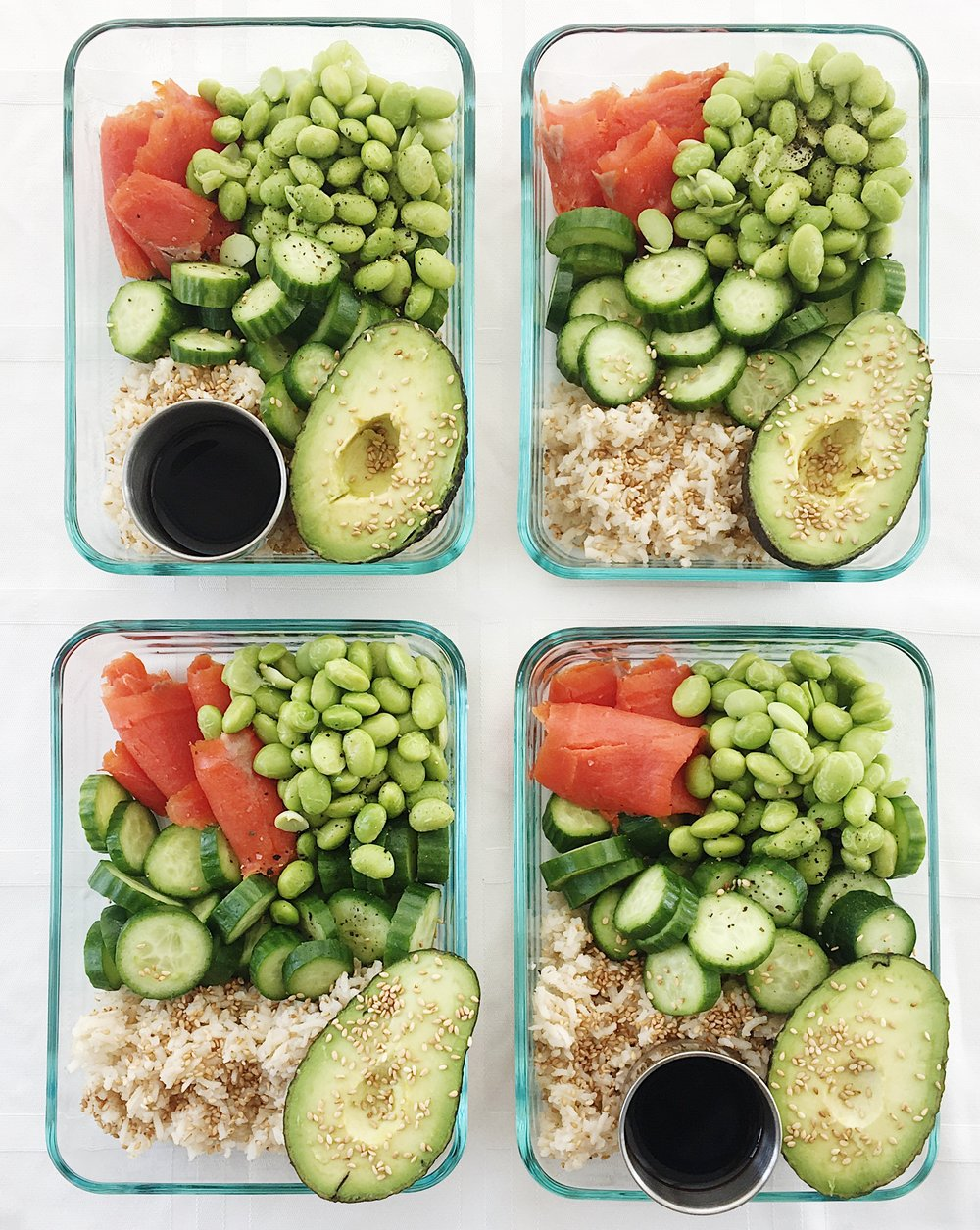 college nutritionist lunch poke bowls