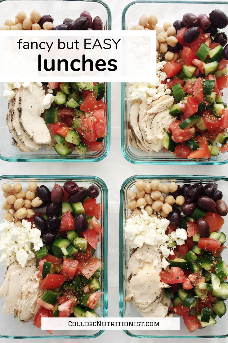 easy lunches college nutritionist