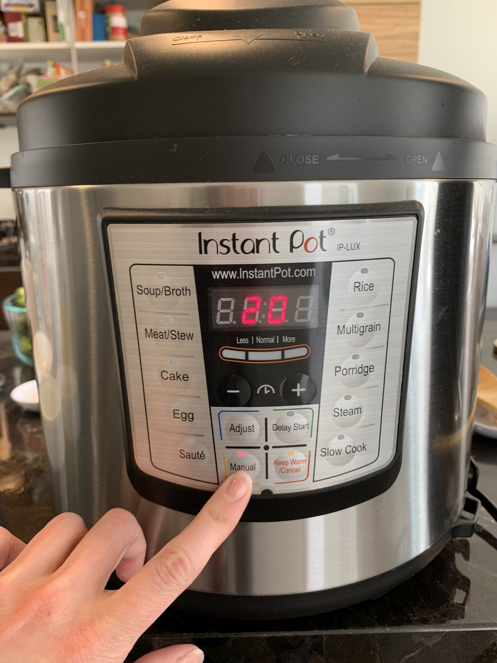 Instant Pot Set Manual Time