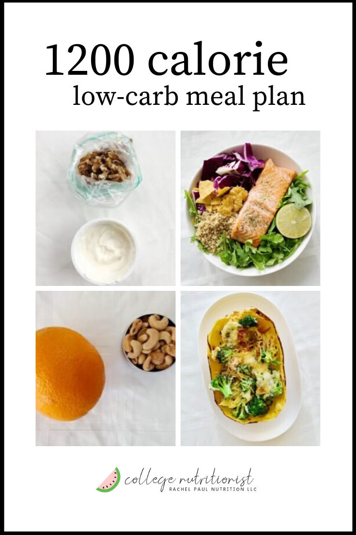7 Day 1200 Calorie Meal Plan Low Carb High Protein The College Nutritionist