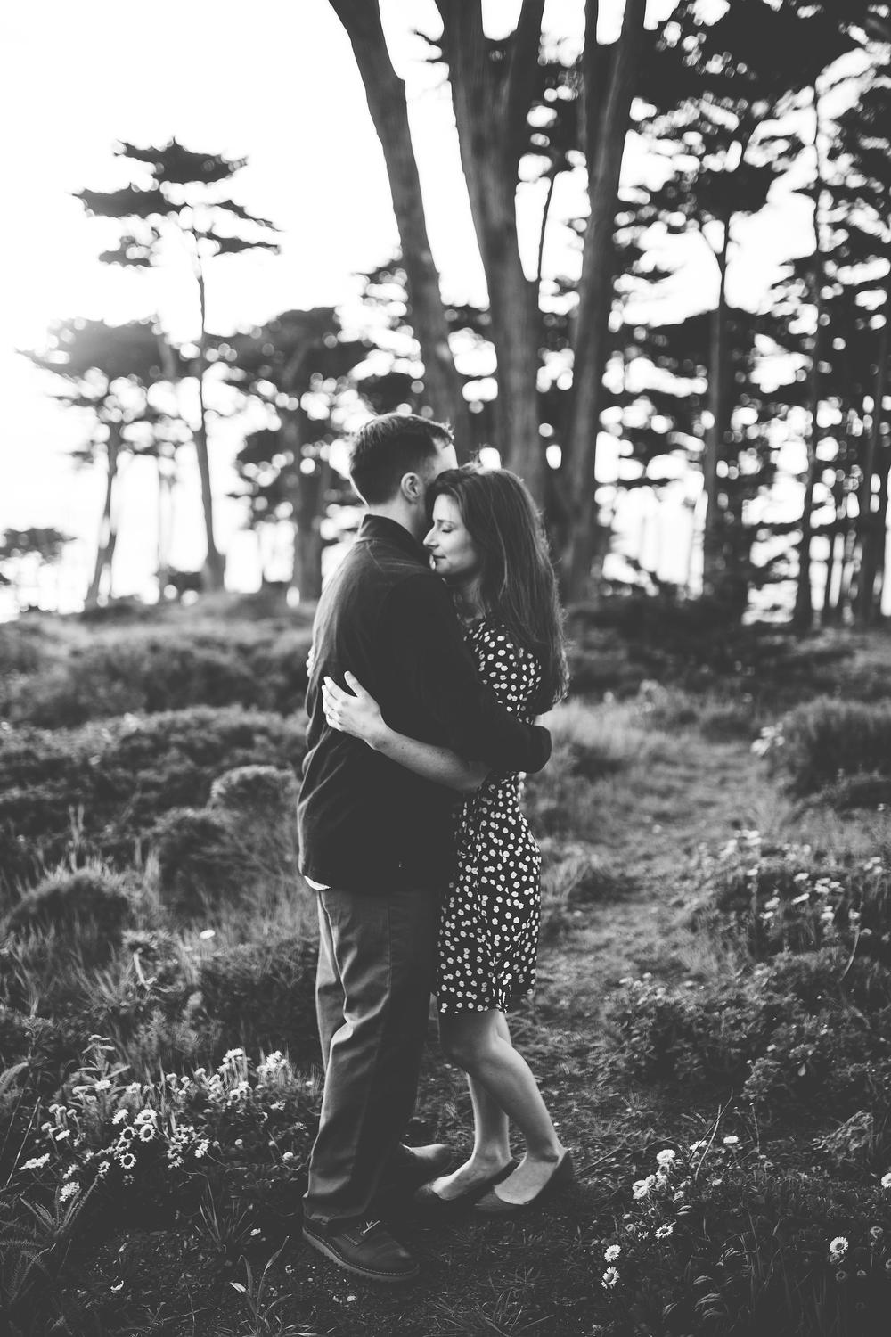 lands end engagement session