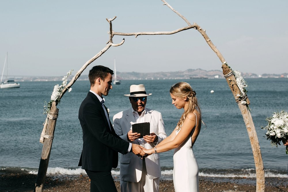 San Francisco Bay Area intimate wedding photographers // sf beach wedding