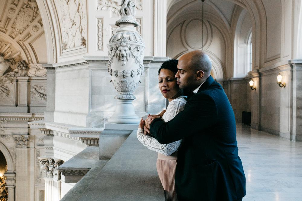 San Francisco city hall wedding / sf city hall wedding photographer // sf city hall elopement photographer // city hall elopement