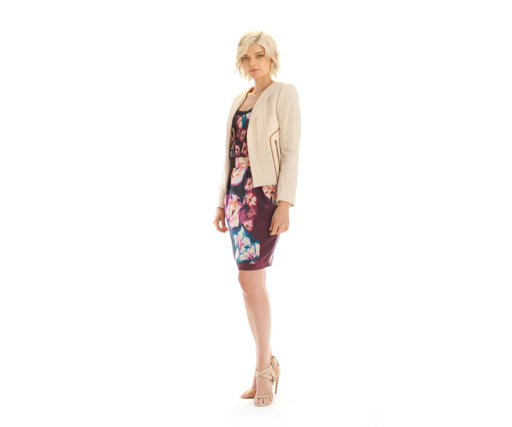 jacket water lily print cami water lily print skirt