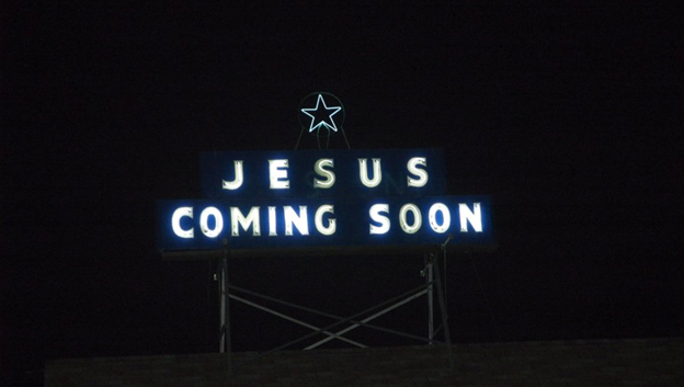 Jesus is coming soon sign.png