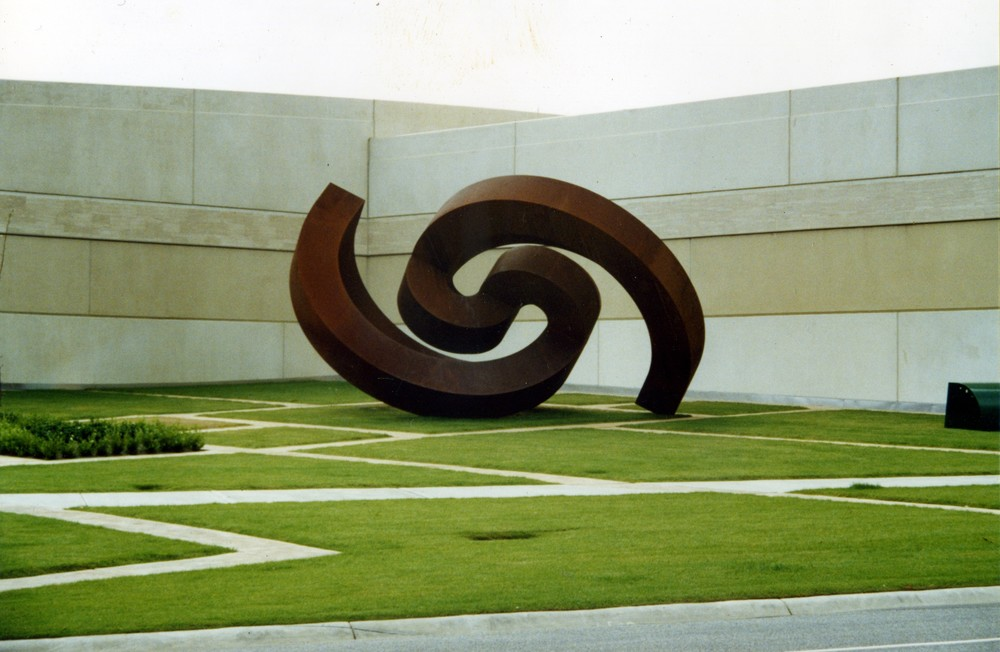 Greg Johns, Birth, 1999  Corten steel, 4.75m  high x 7.5 m long x 5 m wide.  Chadstone.  Melbourne