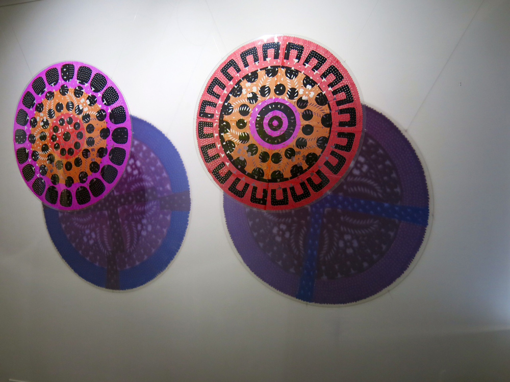 Flowers in the Shade 2012-14 Silk screen on cut paper and acrylic on wall.           Dimensions variable $2,500 each
