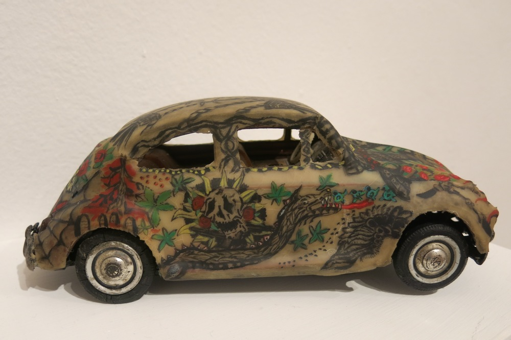 Model for Tattooed Car  2013 Tattoo on latex on toy car 26.5 x 10.5 x 10 cm $3,210