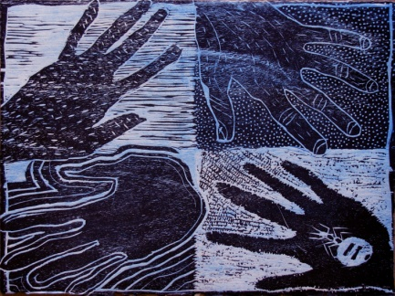 Kevin Namatjira, Rosie & Marilyn Amstrong, Nguratjutatja Ntjarra Art Centre, Alice Springs