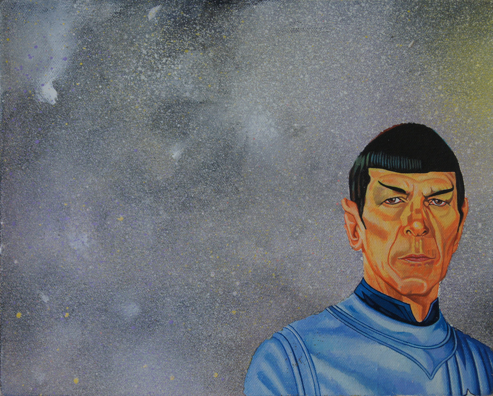 Spock 5. 2016 with Daniel Bogunovic oil and acrylic on canvas 30 x 25 cm SOLD