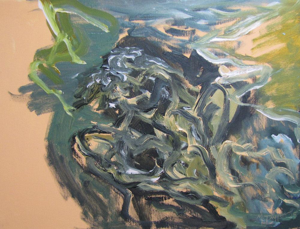 Downriver. 2015. Oil on cotton 46 x 61 cm $4,000