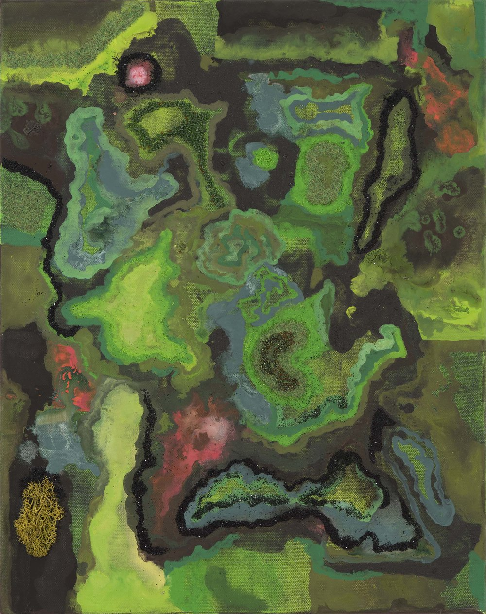Moss-scapes. 2016.  acrylic on canvas  45.5 x 35.5 cm. $1,000