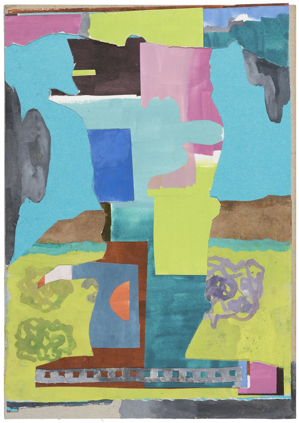 Tree. 2015. gouache collage.  37 x 28.5 cm. $900