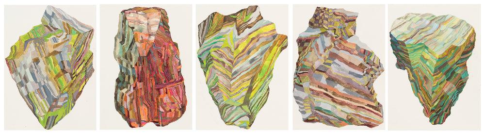 Rockgarden: Suomenlinna.2015.Gouache on paper. 35.5 x 99 cm $2,400