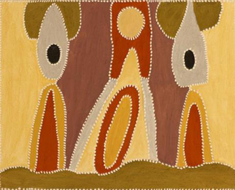 Phyllis Thomas, Booljoonngali. 2014. Natural ochres and pigments on canvas. 80 x 100 cm $4,200