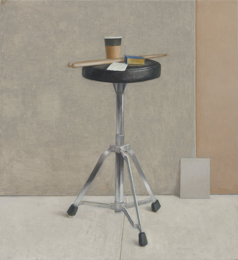 Drum Stool 2  2016 Oil on linen 60x55cm $8,500