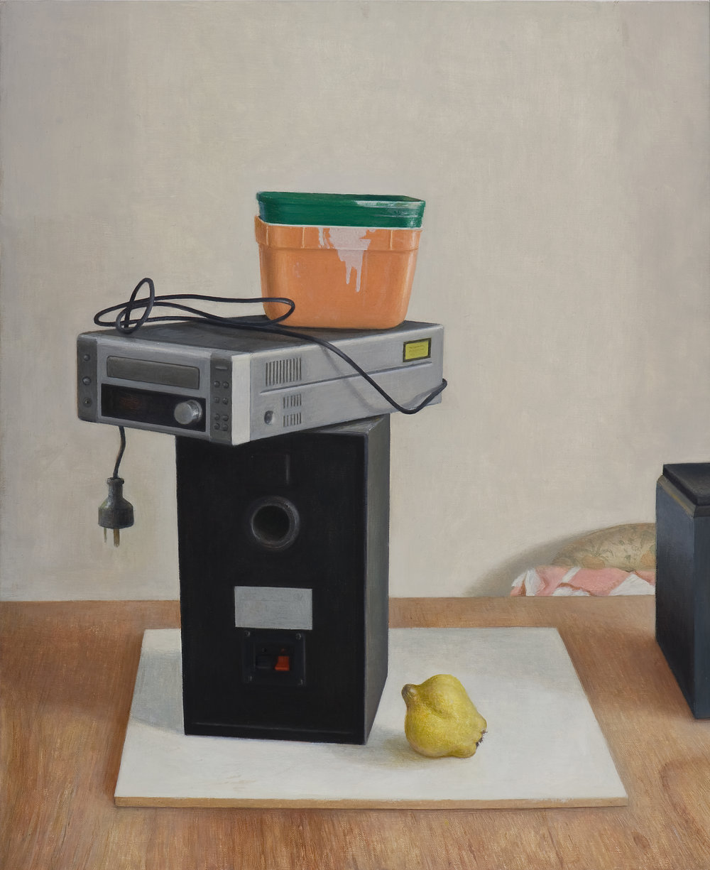 Arrangement with Quince 2  2016  Oil on linen 56x46cm $7,000