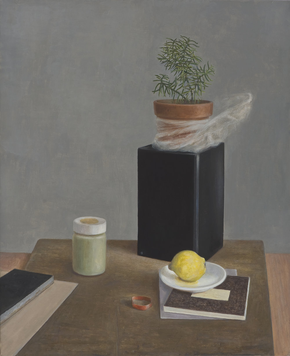 Arrangement with Quince 1  2016 Oil on linen 56x46cm $7,000