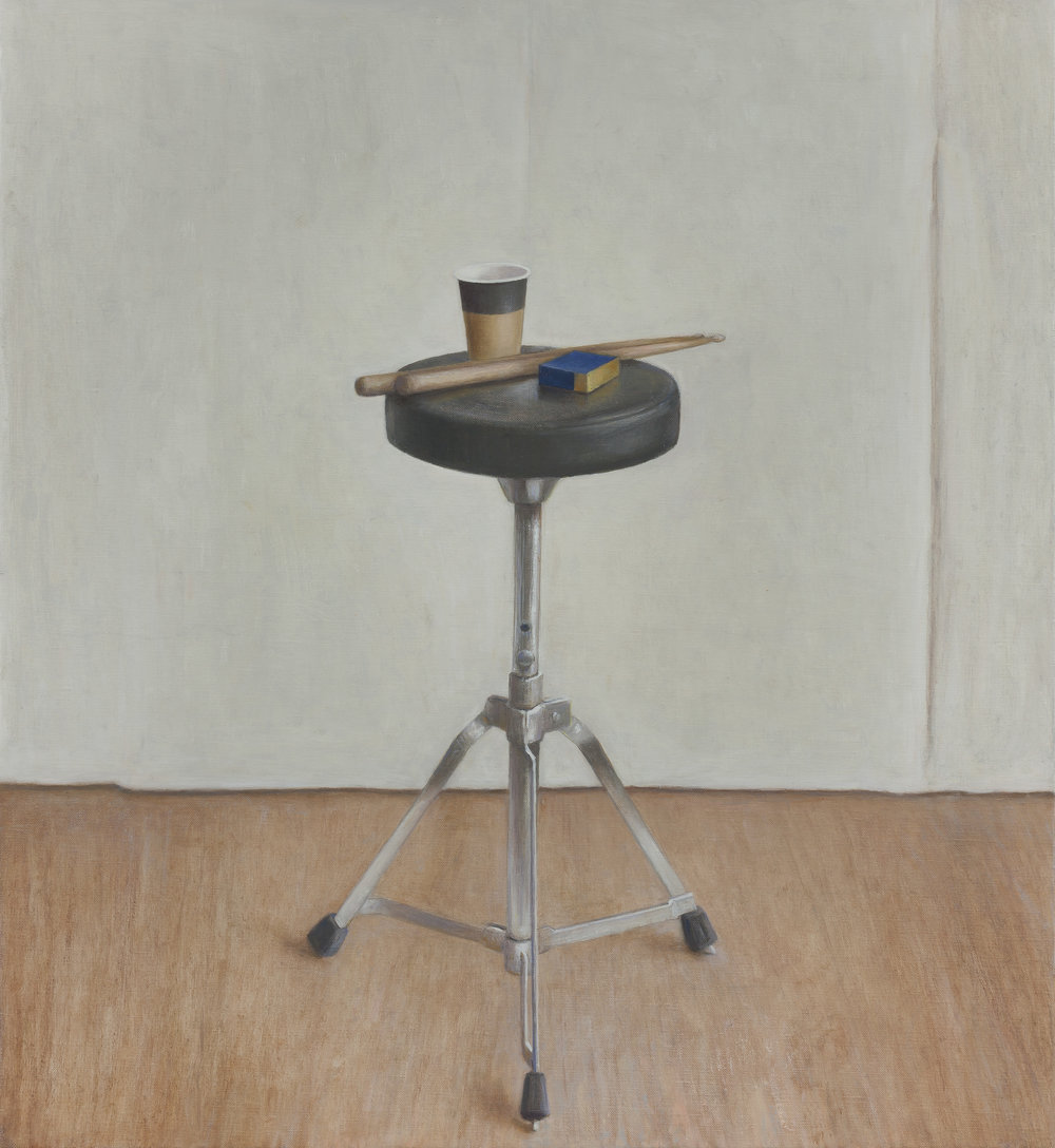 Drum Stool 1  2016 Oil on linen 60 x 55 cm $8,500